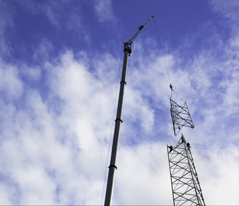 Mobile tower installation by Commplete